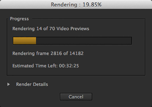 Background rendering in Adobe Premiere Pro CS6.5
