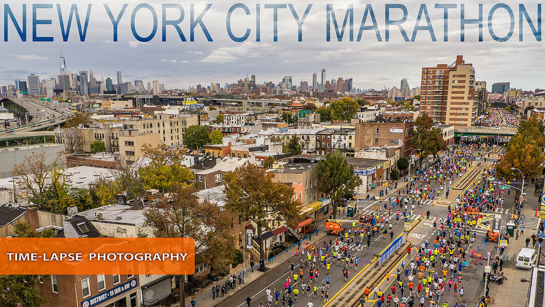 New York Marathon time-lapse photography