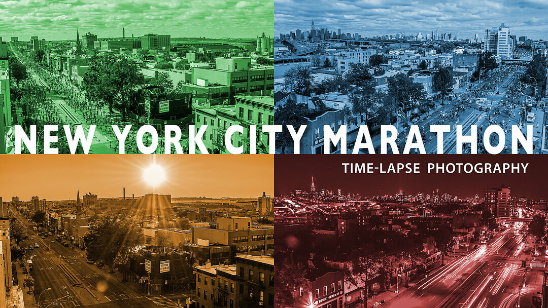 NYC Marathon time-lapse photography